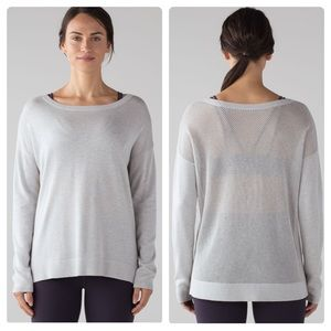 Lululemon Well Being Mesh Knit Pullover Sweater